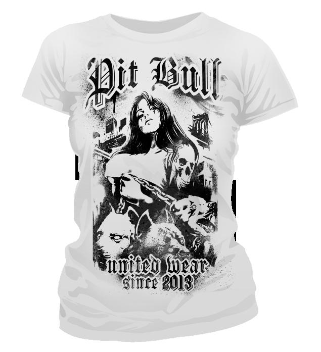 f5b6127ced6e Dámske tričko - Pitbull United Rebel Life White