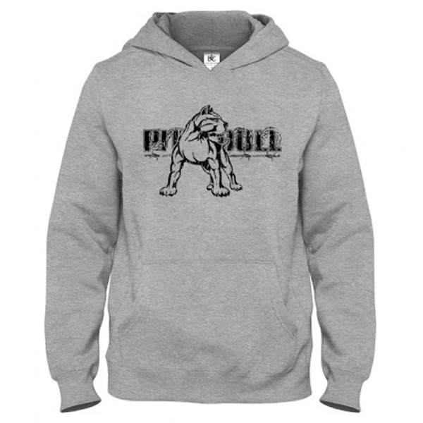 Mikina - PITBULL Hard Muscle Grey
