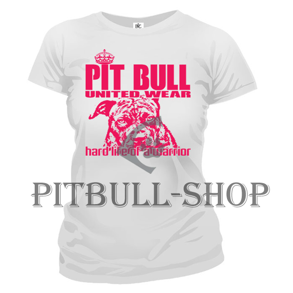 a11199ec74c9 Dámske tričko - PITBULL HARD LIFE White