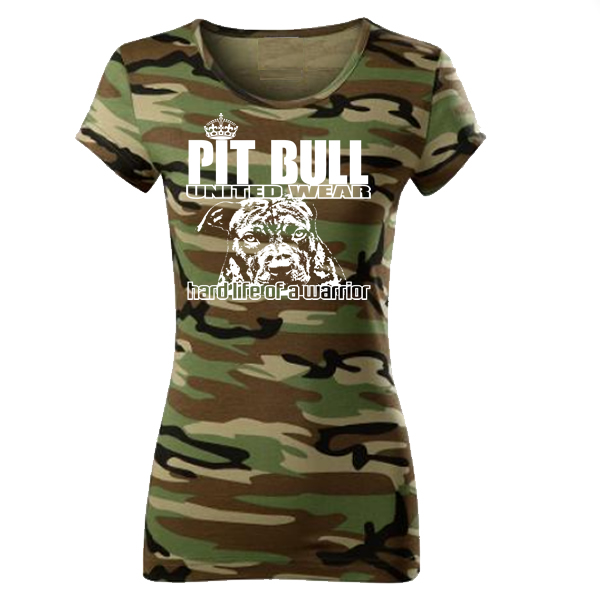 48d7fdf30 Dámske tričko - Pitbull Hard Life Army | PITBULL SHOP