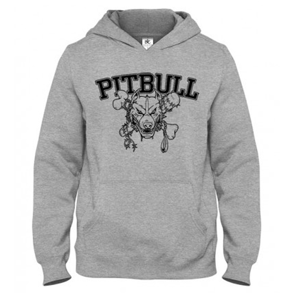 Mikina - PITBULL Strong Grey